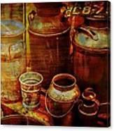 Antique Milk Cans Canvas Print