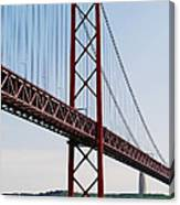 April Bridge In Lisbon Canvas Print