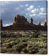 Arches National Park Sunrise Rock Formations  Canvas Print