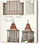 Architecture In Wood, C.1900 Canvas Print