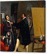 Aretino In The Studio Of Tintoretto Canvas Print