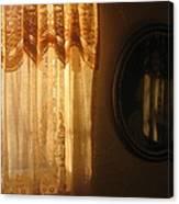 Art Homage Edward Hopper Winter Light Window Curtain Reflection Bedroom Casa Grande Arizona 2005 Canvas Print