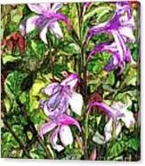 Art In The Garden II Canvas Print