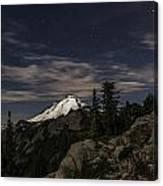 Mt. Baker At Night 1 Canvas Print