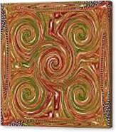 Artistic Embossed Twirl Decoration Chakra Style Unique Signature Navinjoshi Artist Created Images Te Canvas Print