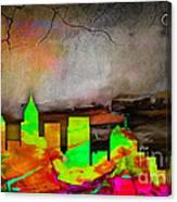 Atlanta Skyline Watercolor Canvas Print
