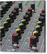 Audio Mixing Board Console Canvas Print