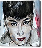 Audrey Hepburn - Abstract Art Canvas Print