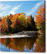 Autumn At The Lock And Dam Canvas Print