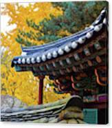 Autumn Color At Namsangol Folk Village Canvas Print
