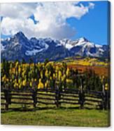 Autumn Fences Canvas Print