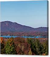Autumn Trees At Lakeshore, Brome Lake Canvas Print