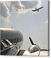 Aviation Past And Present  Canvas Print