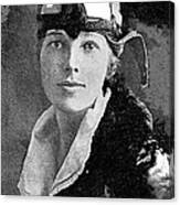 Aviator Amelia Earhardt No Date-2010 Canvas Print