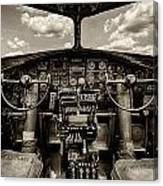 Cockpit Of A B-17 Canvas Print