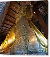 Back View Of Reclining Buddha Canvas Print