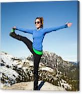 Backcountry Yoga Canvas Print