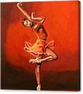 Ballet Lady Canvas Print