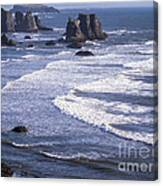 Bandon Beach Seastacks 4 Canvas Print