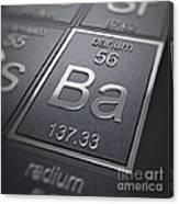 Barium Chemical Element Canvas Print