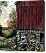 Barn Wreath Canvas Print