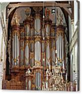 Baroque Grand Organ In Oude Kerk In Amsterdam Canvas Print