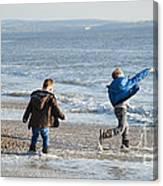 Barton On Sea Tyler And Harvey Canvas Print