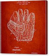 Baseball Glove Patent Drawing From 1924 Canvas Print