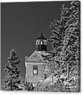 Bass Harbor Lighthouse Mount Desert Island Maine Canvas Print
