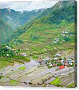 Batad Village And Unesco World Heritage Canvas Print