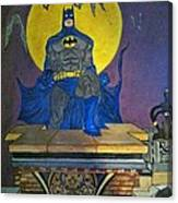Batman On The Roof Top Canvas Print