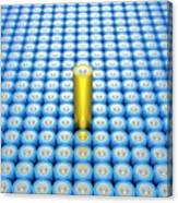 Battery Array And Single Supercapacitor. Canvas Print