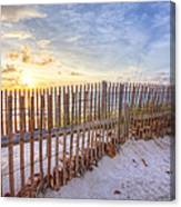 Beach Fences Canvas Print