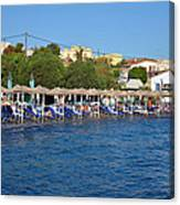 Beach In Aegina Town Canvas Print