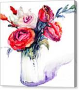Beautiful Roses Flowers Canvas Print