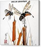 Beeing Present Canvas Print