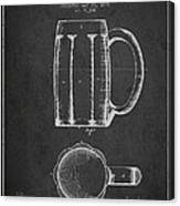 Beer Mug Patent From 1876 - Dark Canvas Print