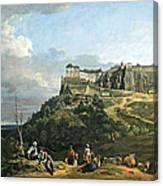 Bellotto's The Fortress Of Konigstein Canvas Print