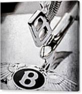 Bentley Hood Ornament - Emblem Canvas Print