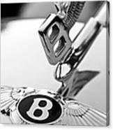 Bentley Hood Ornament Canvas Print