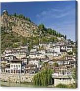 Berat Old Town In Albania Canvas Print