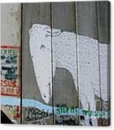 Bethlehem Separation Wall Canvas Print