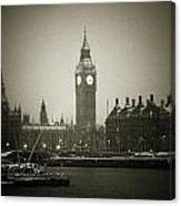 Big Ben On A Wintery Day Canvas Print