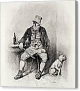 Bill Sykes And His Dog, From Charles Canvas Print