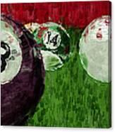 Billiards Abstract Canvas Print