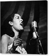 Billie Holiday (1915-1959) Canvas Print