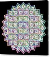 1 Billion Dollars Geometric Black Canvas Print