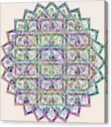 1 Billion Dollars Geometric Tan Canvas Print