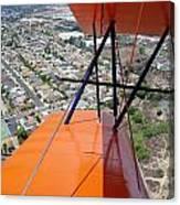 Biplane Over San Diego Canvas Print