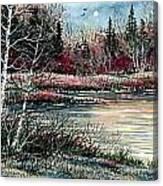 Birch Lake Canvas Print